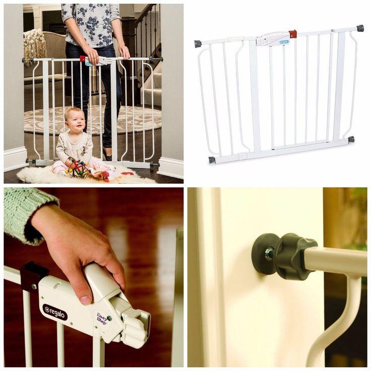 Baby Gate Walk Through Safety Latch Doorway Staircase Toddler Pet Indoor Safe #Regalo