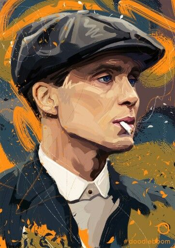 Painting of Tommy Shelby