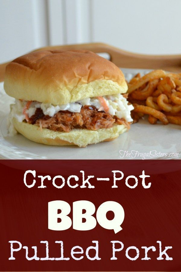 BBQ Pulled Pork ~ The Frugal Sisters
