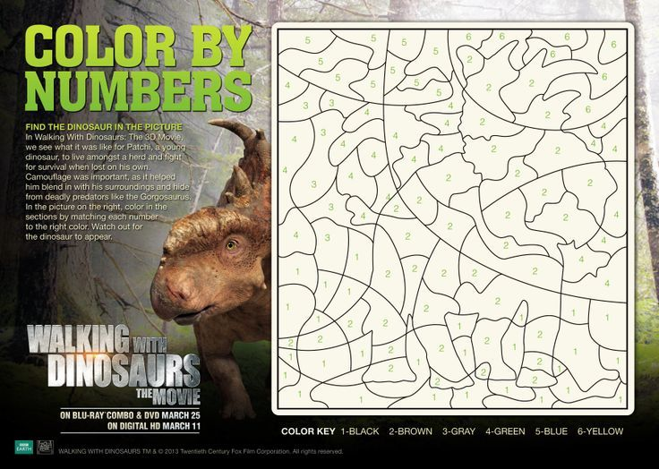 Free Printable Walking With Dinosaurs The Movie Coloring Pages And Activity Sheets WalkingWithDinosDVD