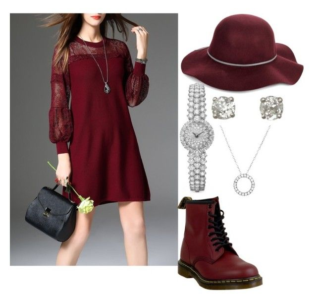 """""""everyday hats"""" by chocopiesweet on Polyvore featuring San Diego Hat Co. and Dr. Martens"""