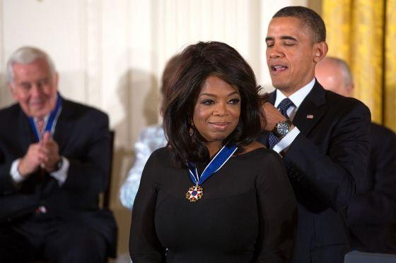 Oprah Gail Winfrey(born January 29, 1954) is an Americanmedia proprietor,talk show host, actress, producer, andphilanthropist.Winfrey is best known for her multi-award-winning talk showThe Op...