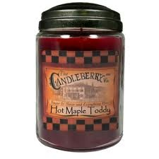 "The smell of THIS candle, by Candleberry Co.  ""Hot Maple Toddy""....smells like FALL!!"