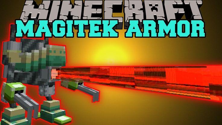 Minecraft: MAGITEK ARMOR (SHOOT FIRE BEAMS, SMELT, & MINE!) Mod Showcase