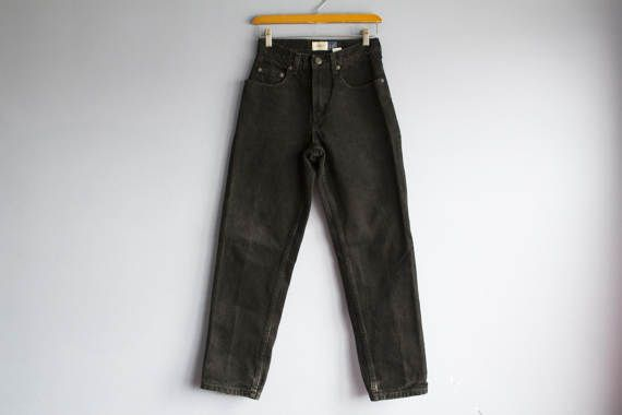 Vintage Faded Black Distressed Jeans 90s Gap high waisted
