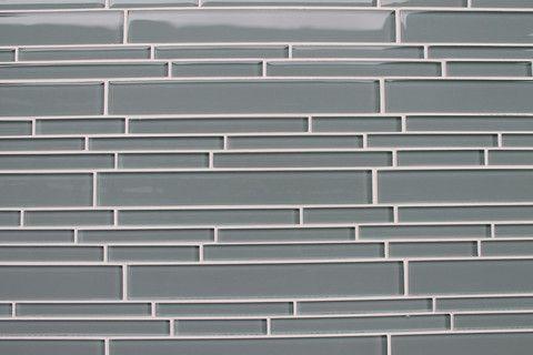 Chimney Smoke Gray Linear Glass Mosaic Tile