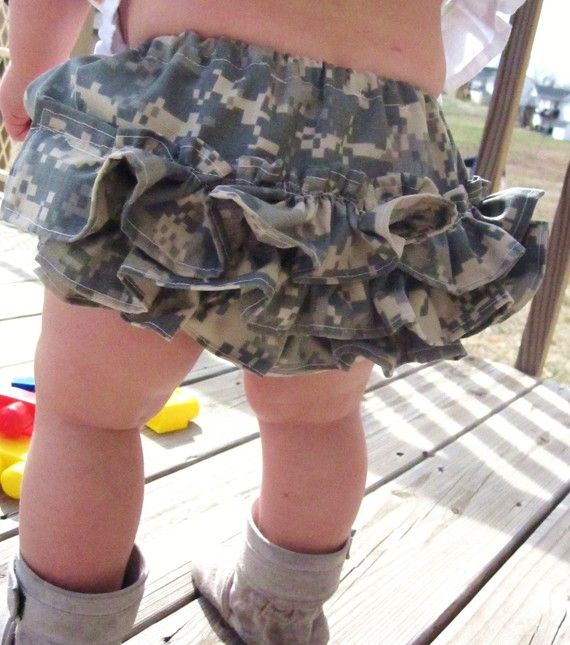 Ruffled Diaper Cover Ruffle Bloomers ACU Army by paperprincess34, $20.00