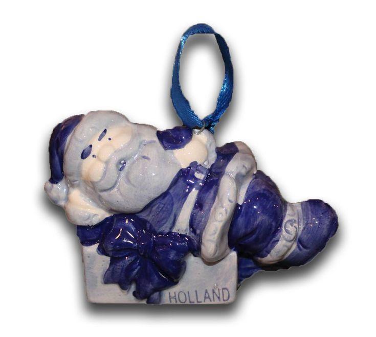 Typisch Hollands Delfts Blauwe Kerst-decoratie