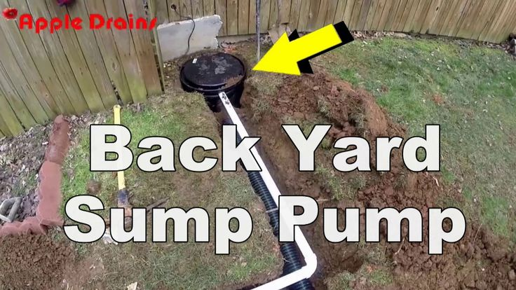 How To Install A Back Yard Sump Pump French Drain