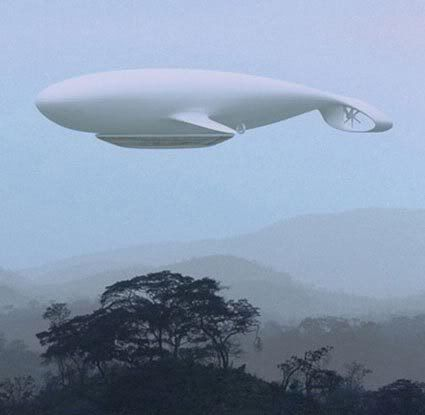 Manned Cloud is a blimp-shaped whale. It was developed by the architect and designer Jean-Marie Massaud, in collaboration with the french aerospace agency ONERA. It will be a flying hotel can accommodate 40 people