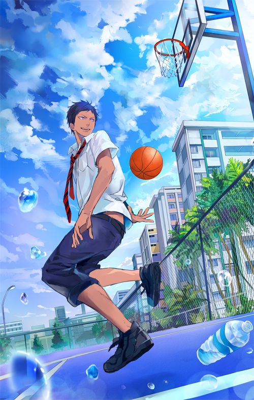 Art Basket Facebook : Kuroko no basket aomine daiki by megane hoata anime