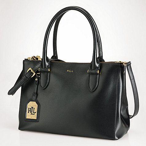 c40a205ead Buy Lauren Ralph Lauren Newbury Double-Zip Satchel Online at johnlewis.com  | Handbag Ralph Lauren.. | Ralph lauren handbags,Shopper tote ja Handbag  accesso…