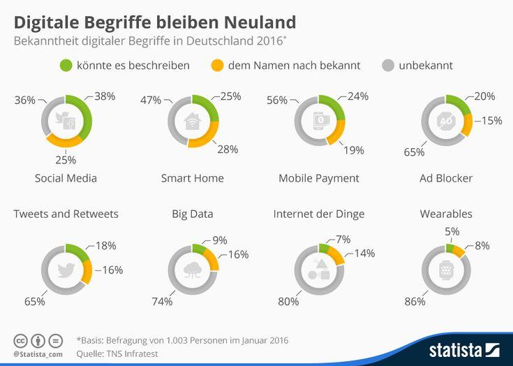 Digitale Begriffe bleiben Neuland | Statista