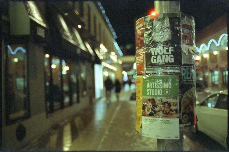 CineStill ISO 800 35mm film Nikon F4 at Night in Ottawa Ontario