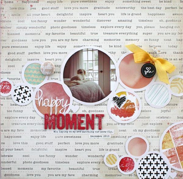 #papercraft #scrapbook #layout. Happy Moment *Cocoa Daisy February kit by Christine Drumheller @Kari Jones Jones Jones Jones alissa Peas in a Bucket