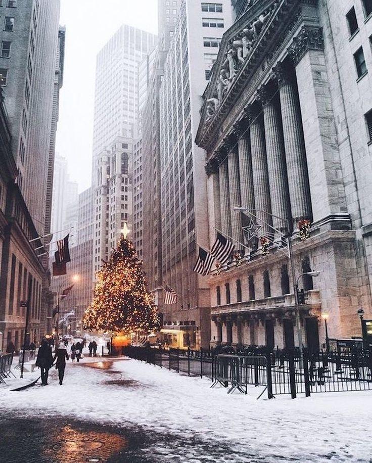 www.joliesse.ru   вдохновение Новый Год Рождество Елка биржа Нью-Йорк праздник декор улица