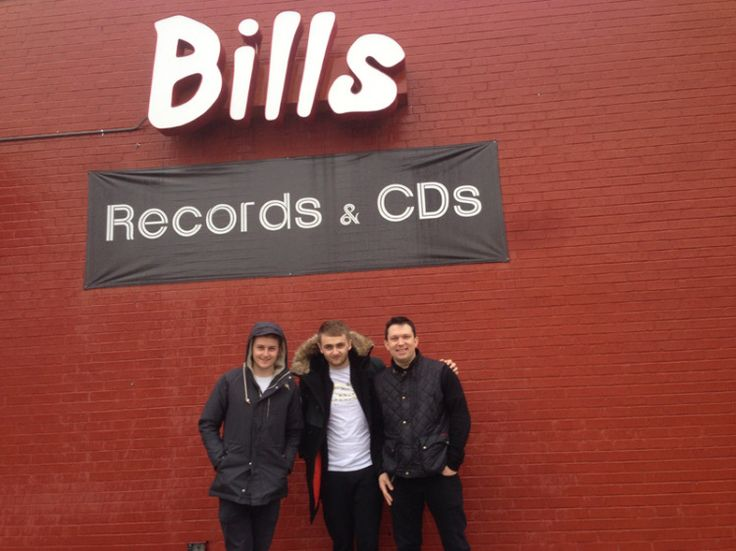 """24.Feb. 2, Dallas:  In what was one of the most fun SuperBowl Sundays ever, I took Guy and Howard of Disclosure too Bill's Records & Tapes to look for classic Sun Ra vinyl and other gems including """"If It Ain't Baroque, Don't Fix It."""""""