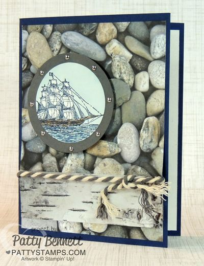 Adventure Bound and Open Seas nautical card great for guys, by Patty Bennett