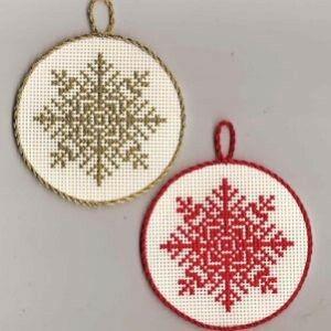 Free cross stitch snowflake chart