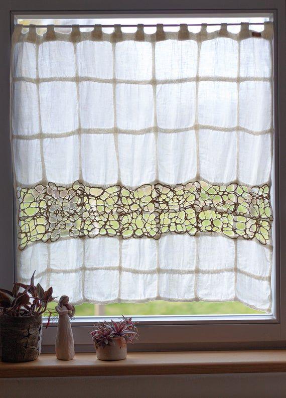 Scheibengardine Smilla Individually Handcrafted In 2020 Window Decor Fine Linen Decor