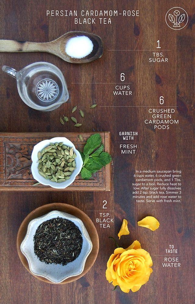 Cardamom-Rose Black Tea: Recipes | Joseph Wesley Black Tea #tea, #teaparty