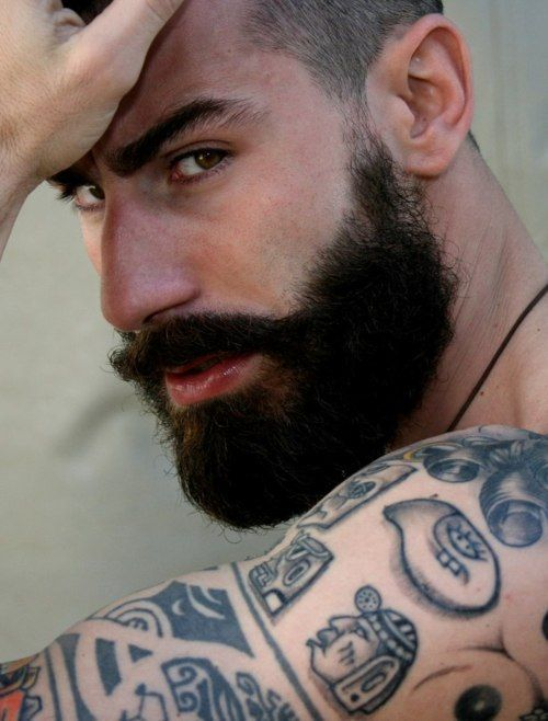 276 best images about beards tattoos on pinterest man for Bearded tattooed man
