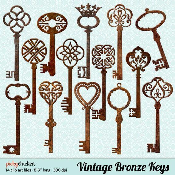 Image result for BRONZE PATINA ANTIQUE SKELETON KEYS