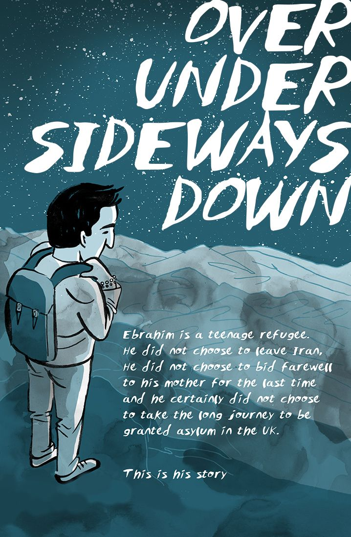 Over under sideways down | A comic book story of a refugee fleeing conflict