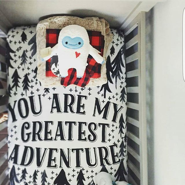 You are my greatest adventure crib sheet