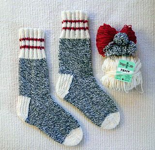 Winter Socks for the Family - Free Winter Socks for the Family is a top down sock pattern with a heel flap and gusset, written for use with 5 DPNs. A wool/nylon blend aran or heavy worsted weight sock yarn is recommended for warmth and durability.