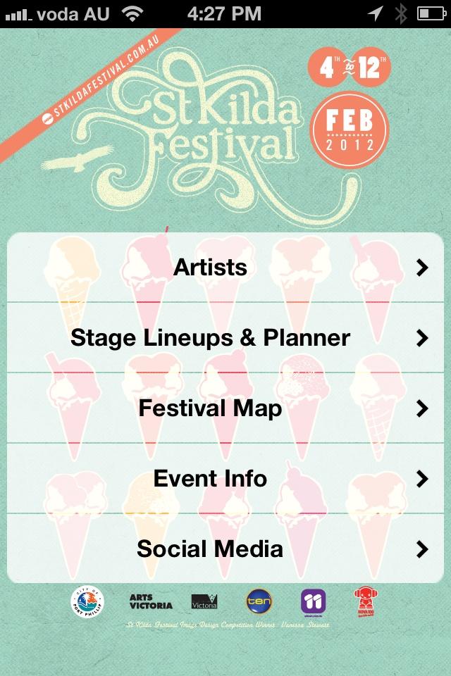 St Kilda Festival 2012 iPhone App @stkildafestival