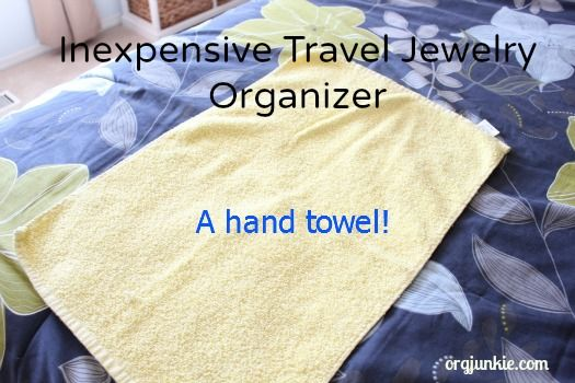 Use a towel to roll up necklaces when you travel (one necklace per fold). Such a good idea.