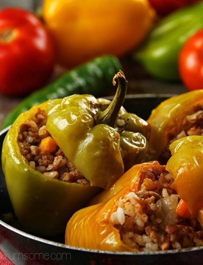 Croatian stuffed peppers, or punjene paprike, as they are called in these here parts, are total comfort food (well, I think so), and really easy to veganise. The sweetness of the peppers, combined …