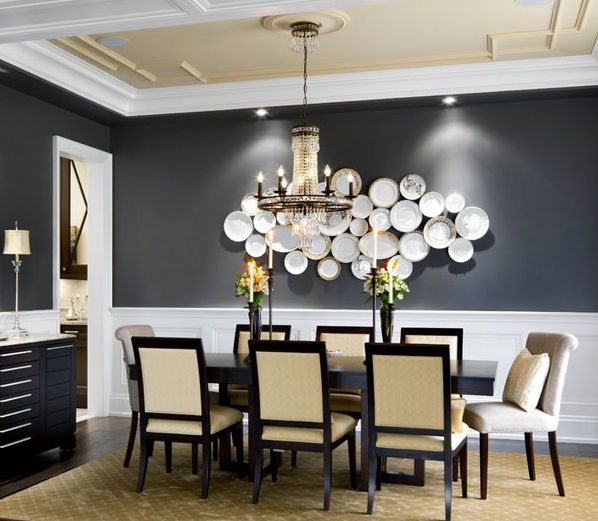 Black-and-white-dining-room-wall-decor-with-unique-wall-ceramic.jpg (598×521)