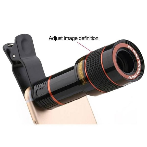 8X ZOOM TELESCOPE LENS FOR SMARTPHONE SALE  Turn your smartphone into a DSLR without spending hundreds of dollars. This is the 8X Zoom Telescope Lens, an amazing accesory compatible with all smartphones that can help you to get that professional quality photos for less.     Made of lightweight grade material and easy to install, just clip over your smartphone camera and instantly get a DSLR quality camera lens on your phone, perfect for capturing beautiful landscape photos and even the Moon!