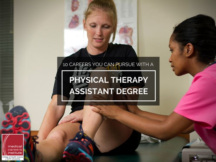 10 Careers You Can Pursue with a Physical Therapy Assistant Degree  #PhysicalTherapyAssistant #PhysicalTherapy #ECPIUniversity   http://www.ecpi.edu/blog/10-careers-you-can-pursue-with-physical-therapy-assistant-degree