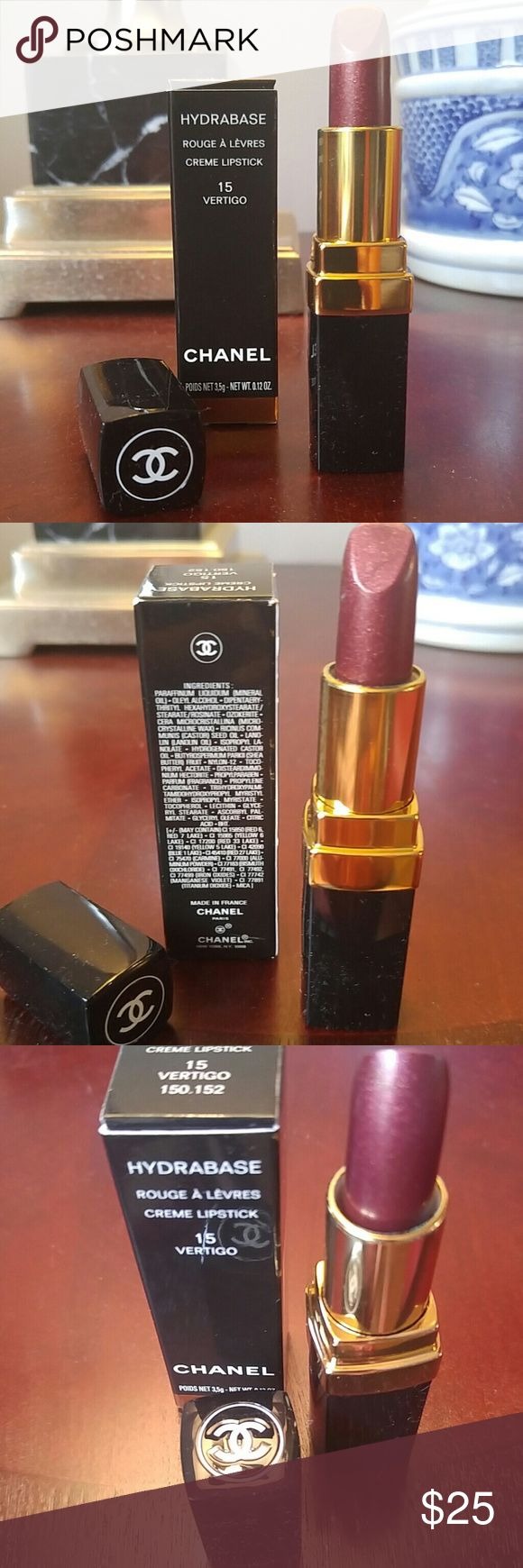 CHANEL CREME LIPSTICK Fabulous CHANEL lipstick. Beand new, never been opened. VERTIGO colour. A bronzy- pink, great for a slick of colour on your lips. Long-lasting and great for all complexions. CHANEL Makeup Lipstick
