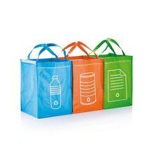 #Boodschappentassen #afval 3-delig: plastic, metaal en papier - Bedrukken met jouw logo of tekst bij Stravers.nl