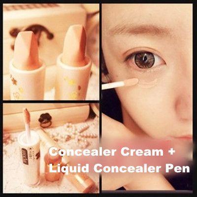 Магия идеальный корректор крем + жидкий корректор Pen крышка черные глаза прыщи макияж база инструмент