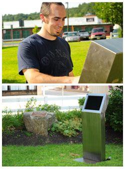 The Enviro outdoor kiosk for your business! #outdoorkiosk #touchscreenkiosk