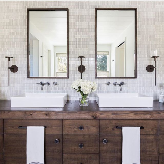 Love this vanity! Especially if we did all white, clean tile and finishes.