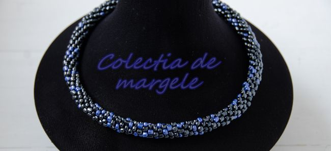 Blue Hematite - Crochet beading necklace by Colectia de margele