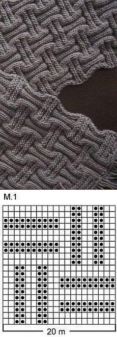 Двусторонний шарф спицами