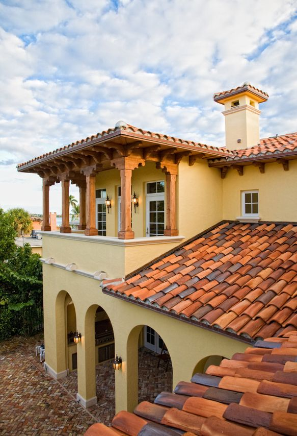 Mediterranean tuscan home house mediterranean tuscan for House roof styles