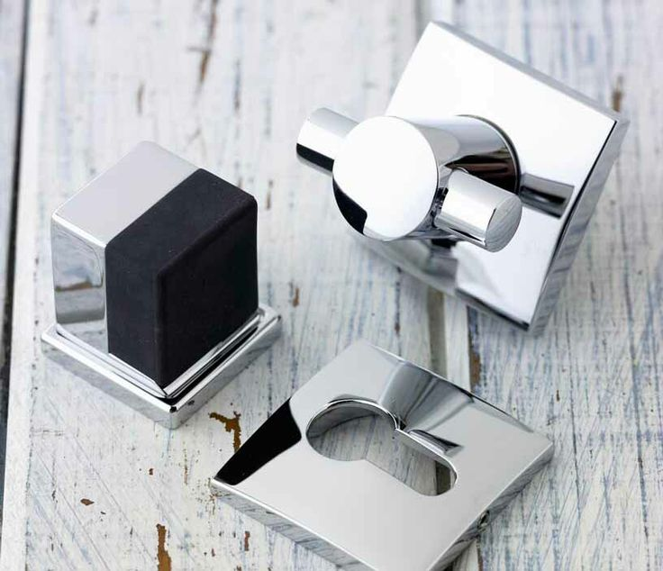 Front door latch hardware and door stop. in polished nickel. Chant custom make all thier products from raw stock of the best integrity. When the demand is for uncompromising quality and style. #architecture #design #hardware