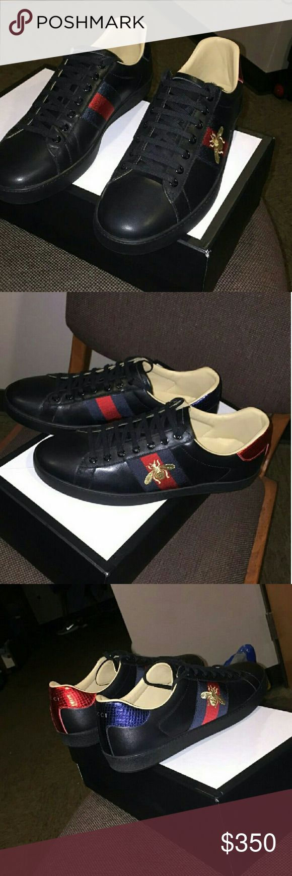 Gucci shoes I have sizes 6-13 Available! Please text me at 7736887376 to see if I still have your size in stock or for more pictures before purchase ! 100% authentic  comes with Box & Dustbags  Price is Negotiable! Serious Inquires only! Gucci Shoes Sneakers