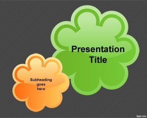 Flower Button PowerPoint Template