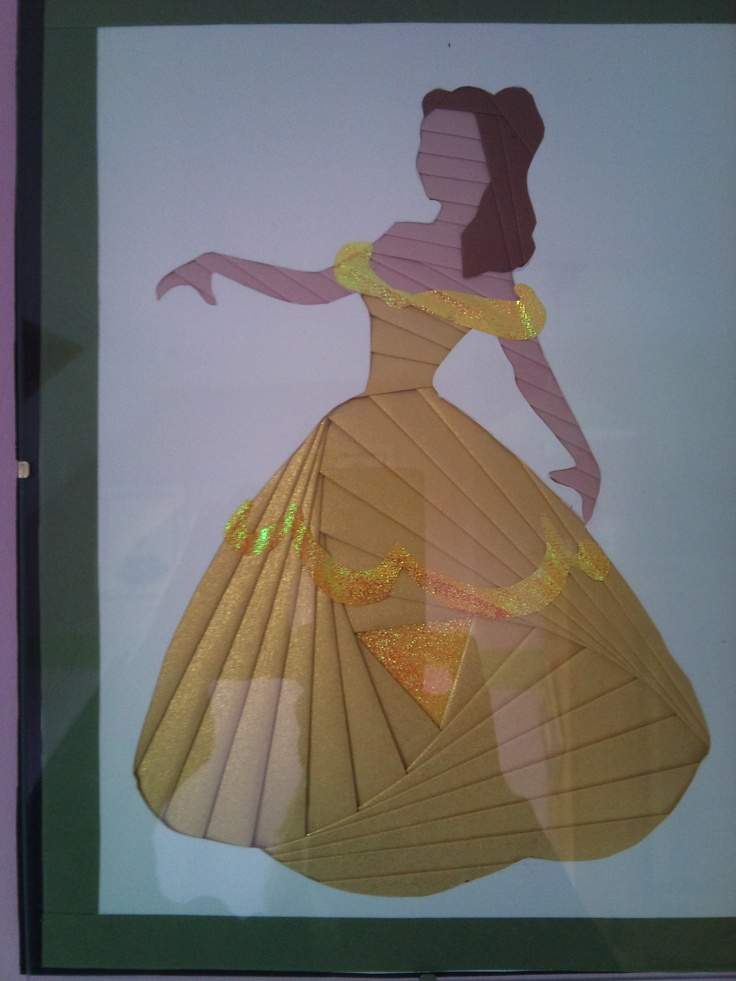 Princesse en iris folding (Belle).