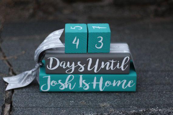Custom Countdown Blocks Long Distance by CountdownsbyBecca on Etsy
