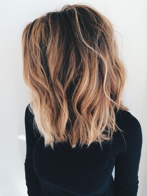 Blunt, Long Lob Hair Cut for Thick Hair - Ombre, Balayage Hairstyles